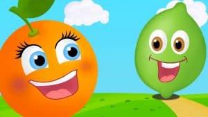 Naranja dulce limon partido