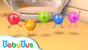 Five Color Candies Swimming Song