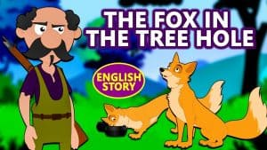 The Hungry Fox Stuck In The Tree Hole