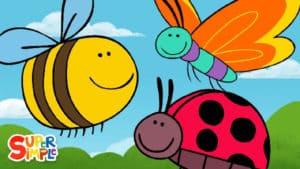 Butterfly Ladybug Bumblebee